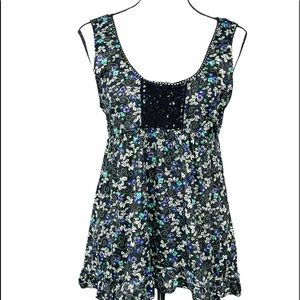 Weavers Sleeveless Baby Doll Top Size Large